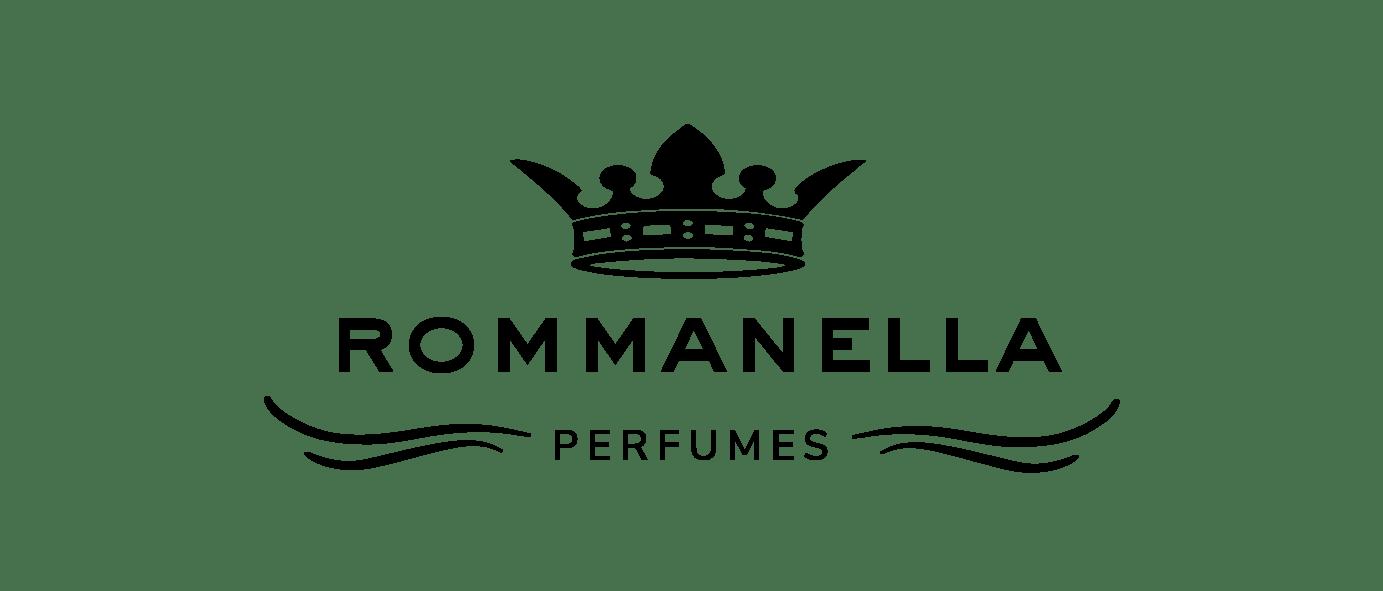 logo Rommanella Perfumes negro